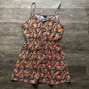 F21 button front floral dress